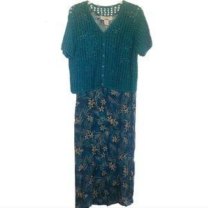 Norton McNaughton Maxi Dress Vintage Size 4/6
